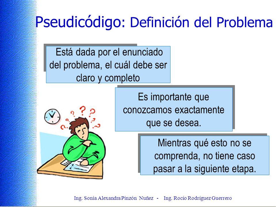 Pseudicódigo: Definición del Problema