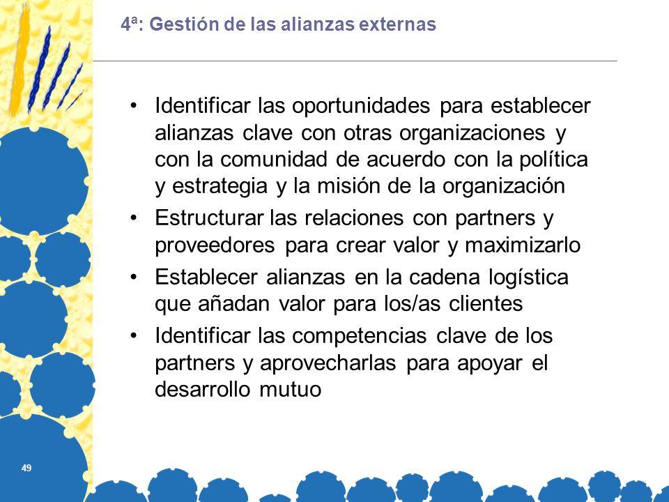 4ª: Gestión de las alianzas externas