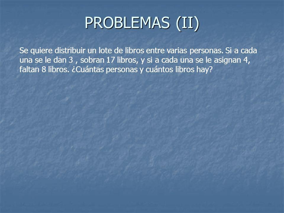 PROBLEMAS (II)