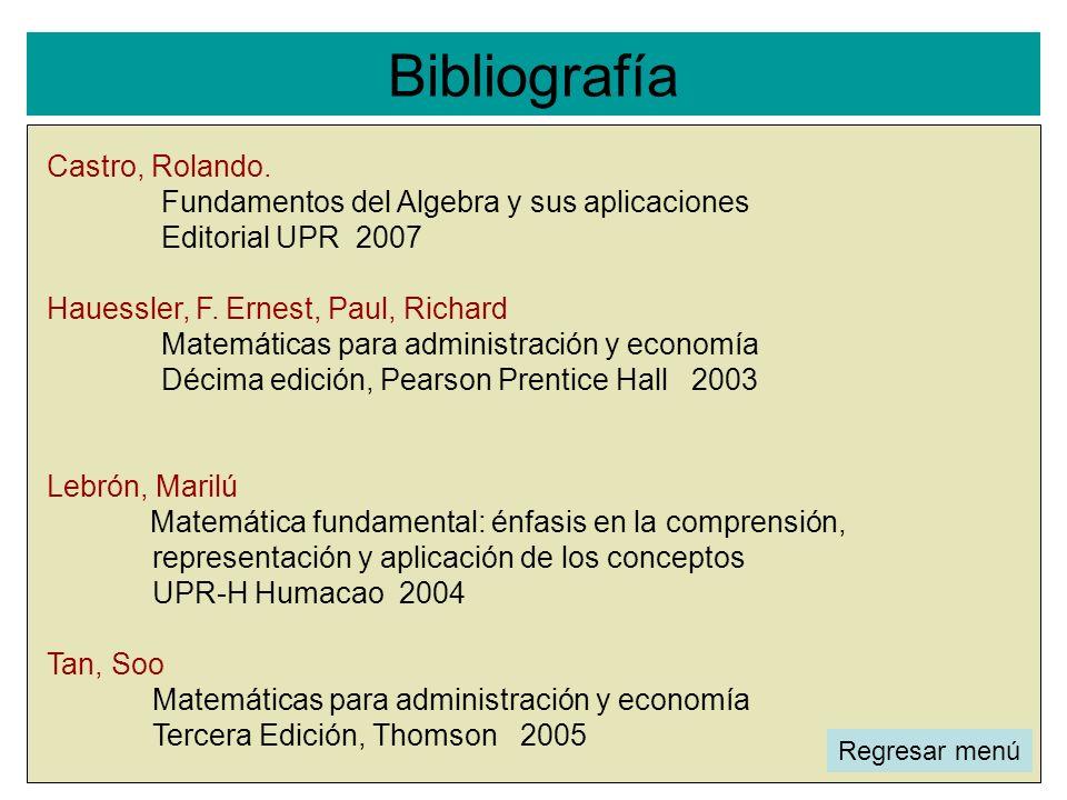 Bibliografía Castro, Rolando.