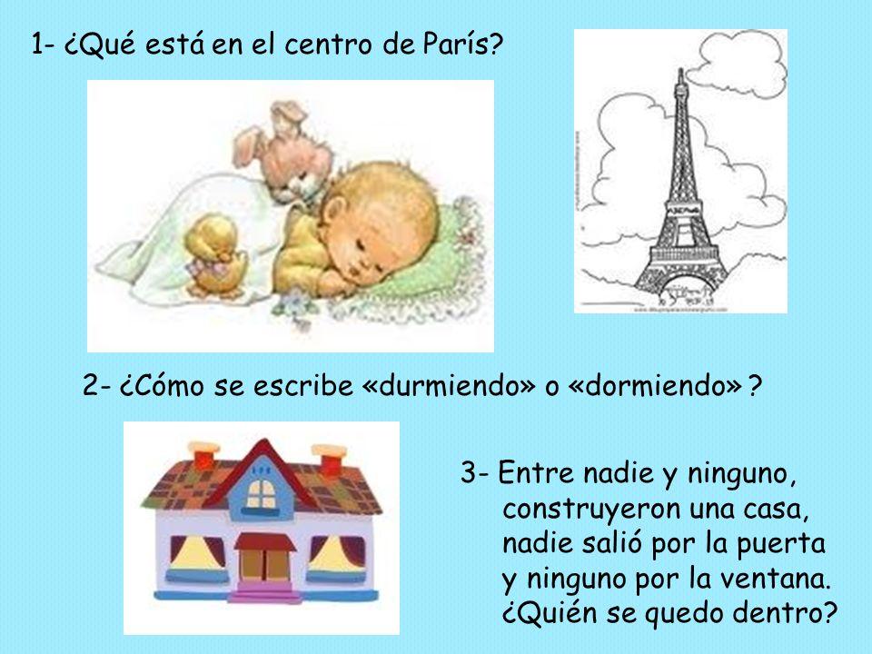 1- ¿Qué está en el centro de París