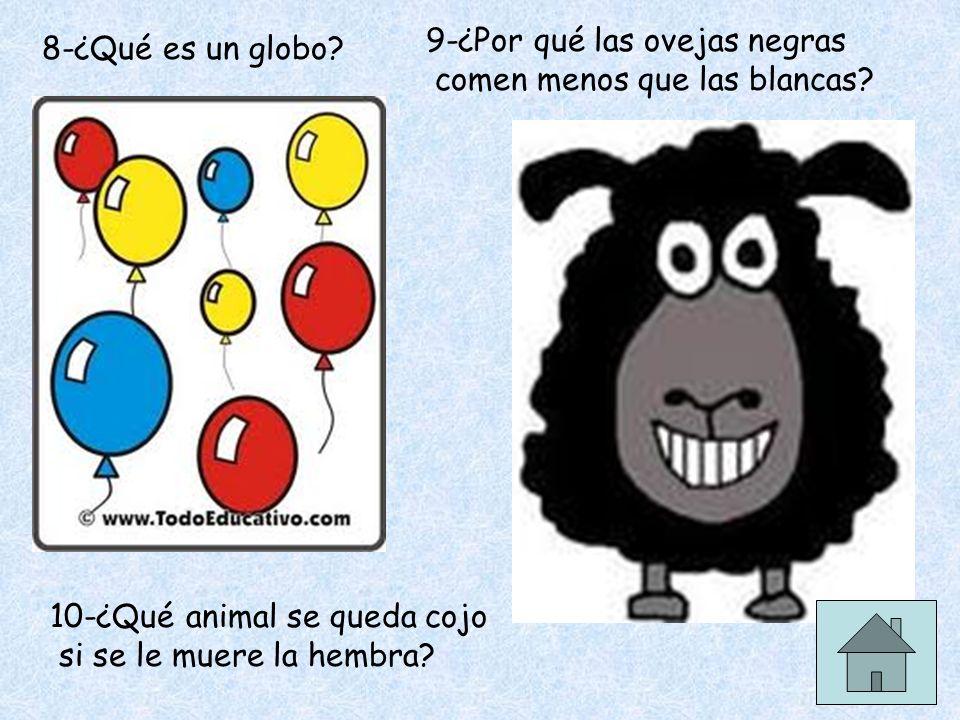 9-¿Por qué las ovejas negras