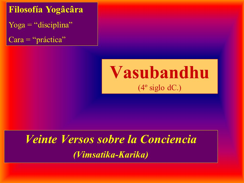 Vasubandhu (4º siglo dC.)