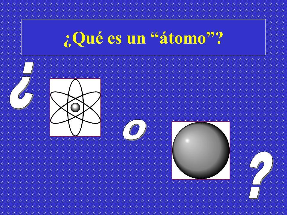 ¿Qué es un átomo ¿ O