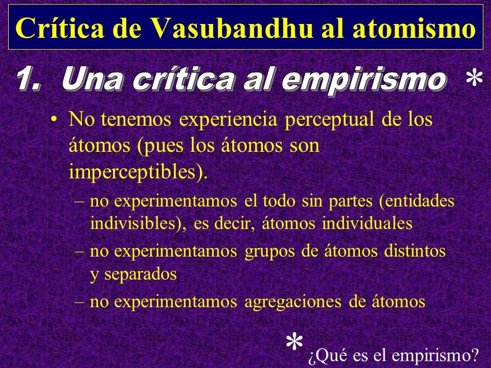 Crítica de Vasubandhu al atomismo