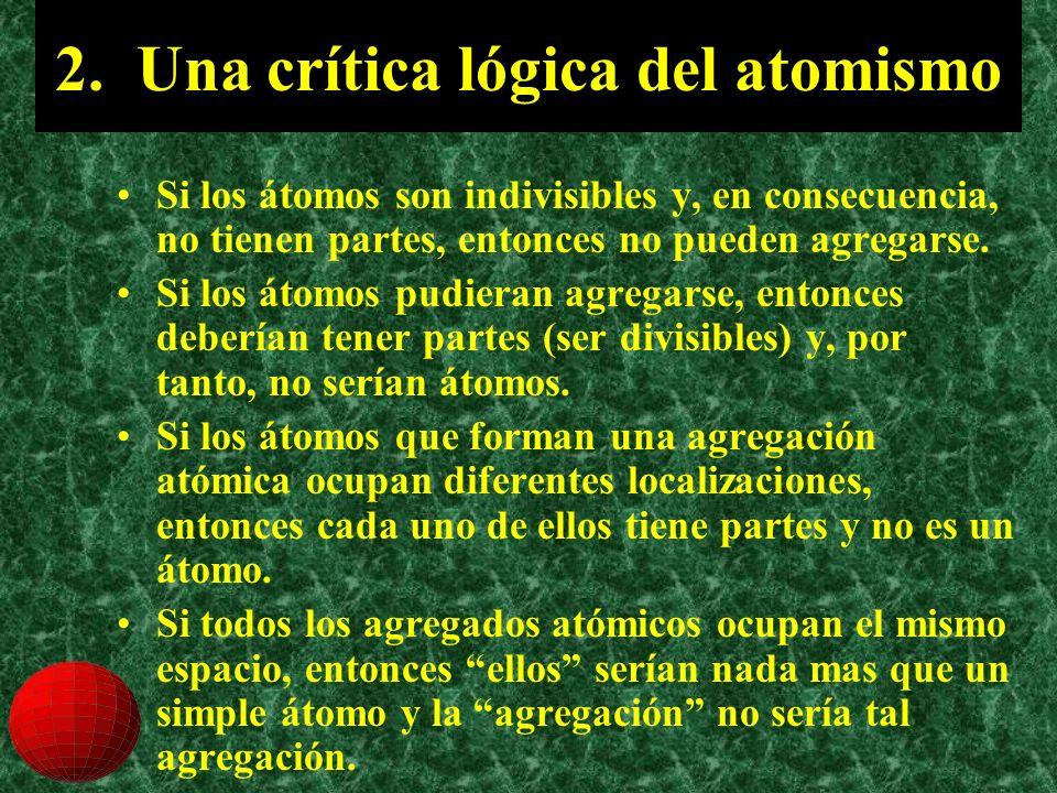 2. Una crítica lógica del atomismo