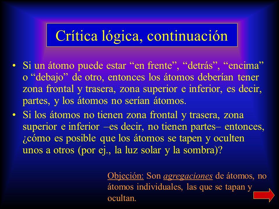 Crítica lógica, continuación