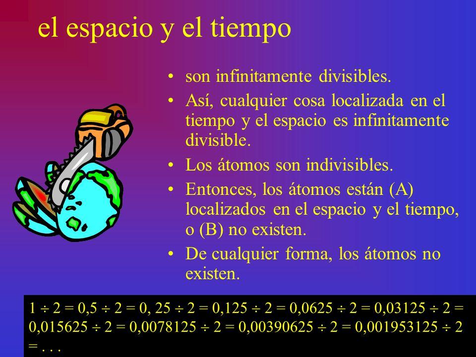 el espacio y el tiempo son infinitamente divisibles.