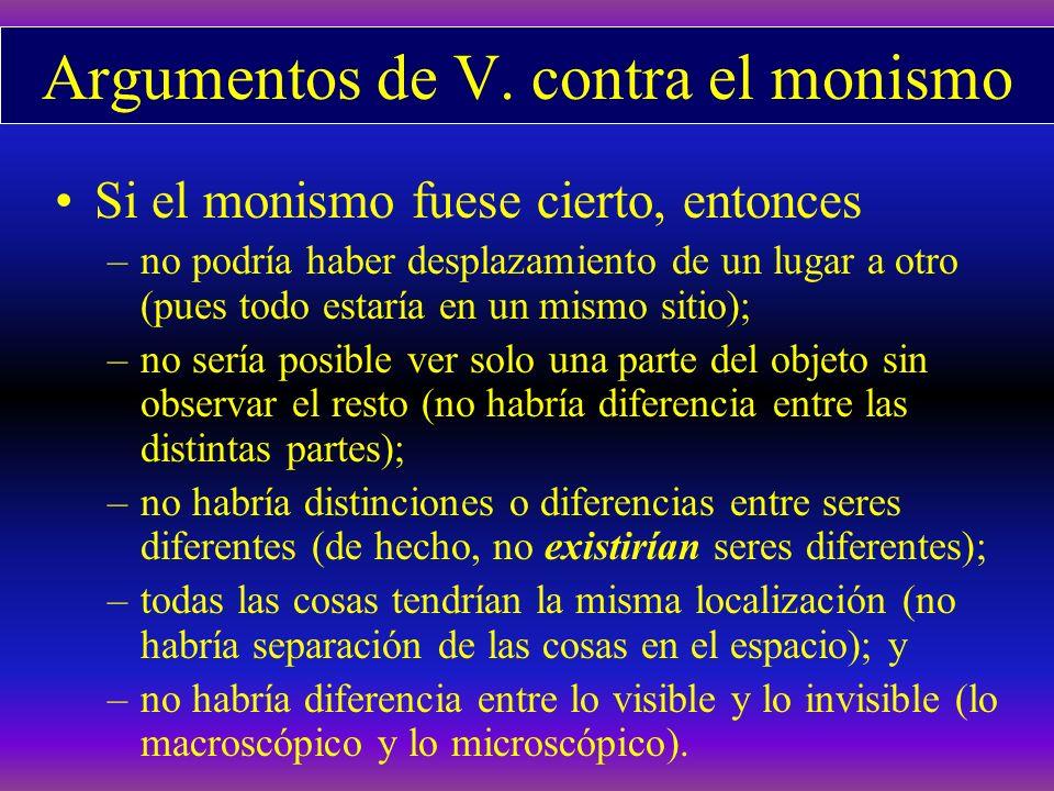Argumentos de V. contra el monismo