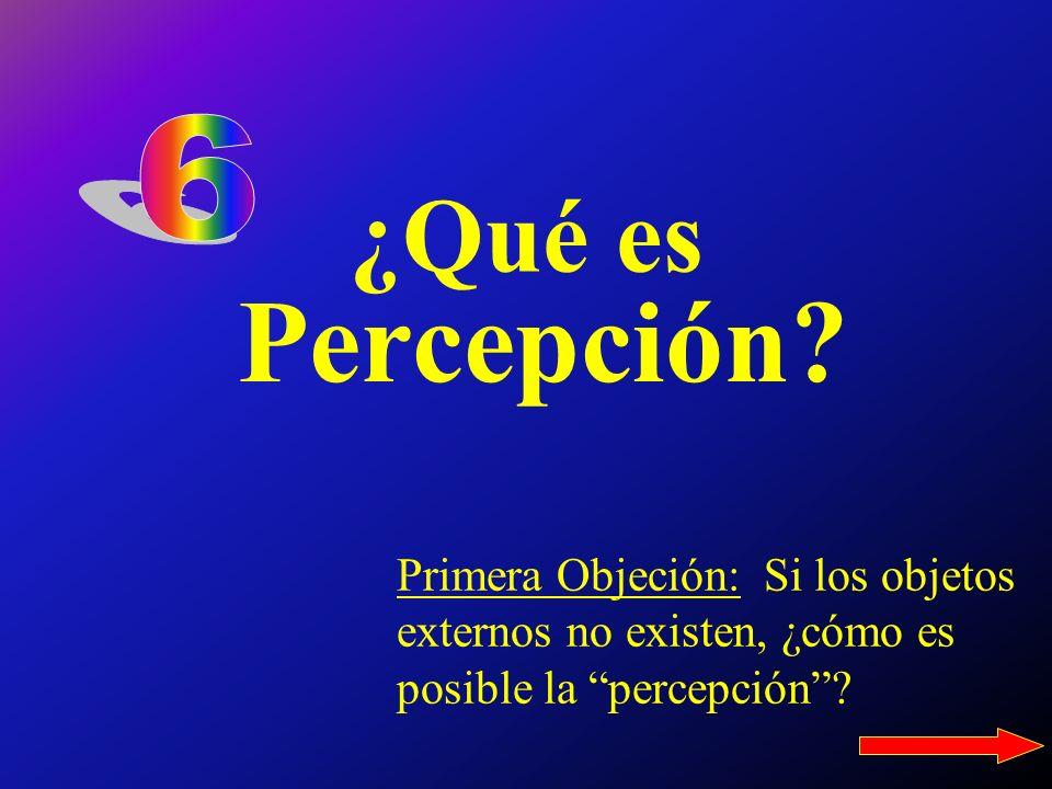6 ¿Qué es. Percepción.