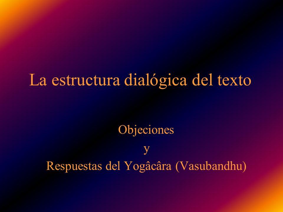La estructura dialógica del texto