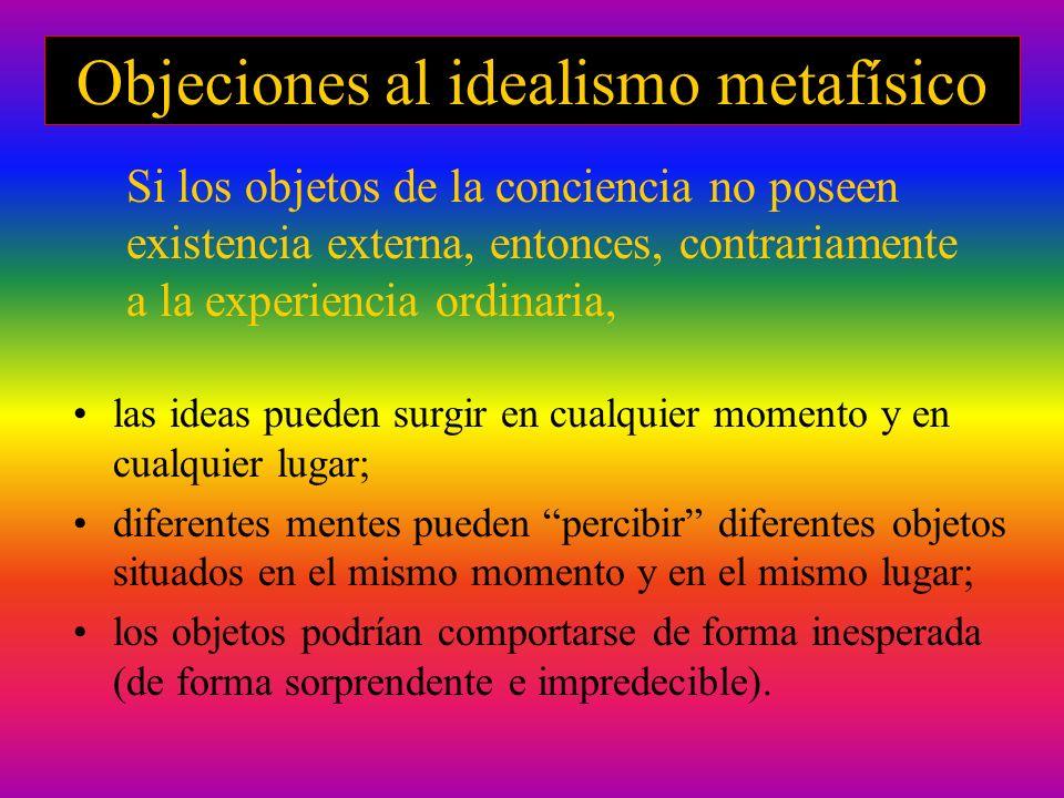 Objeciones al idealismo metafísico