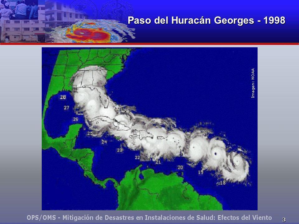 Paso del Huracán Georges - 1998