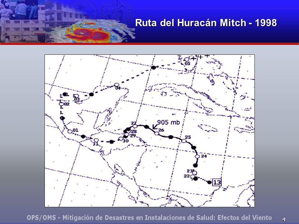 Ruta del Huracán Mitch - 1998