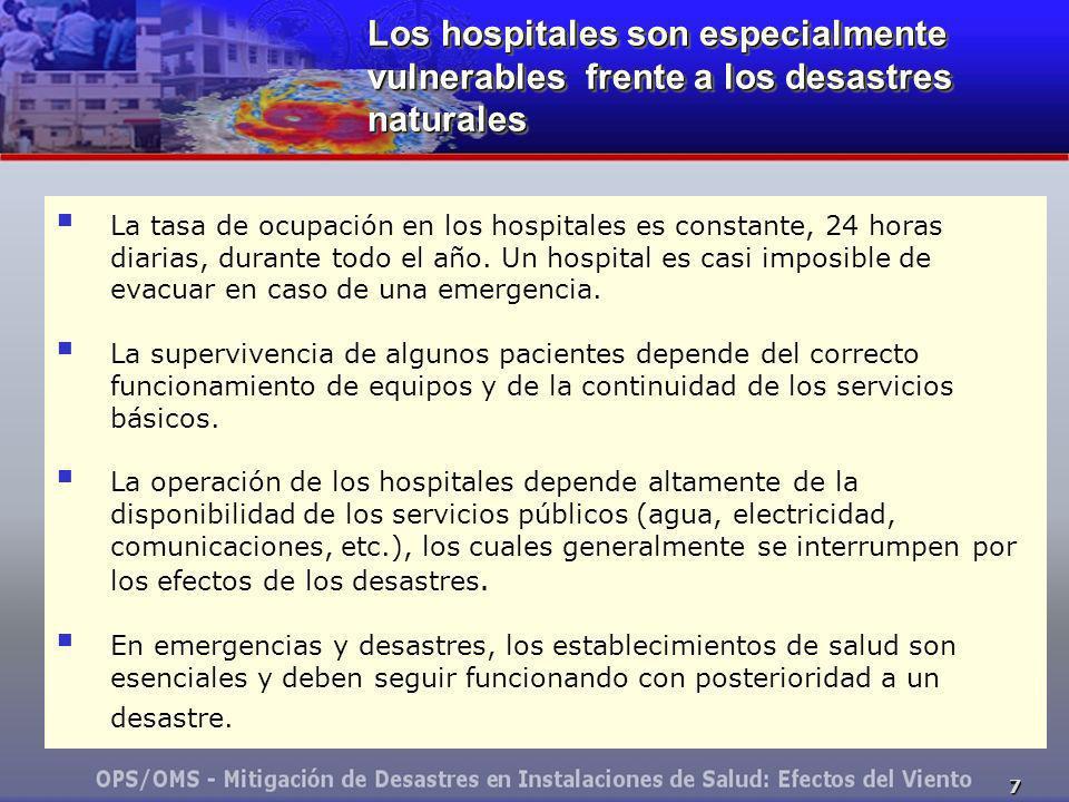 Los hospitales son especialmente vulnerables frente a los desastres naturales
