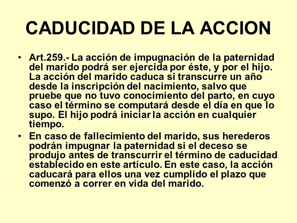 CADUCIDAD DE LA ACCION