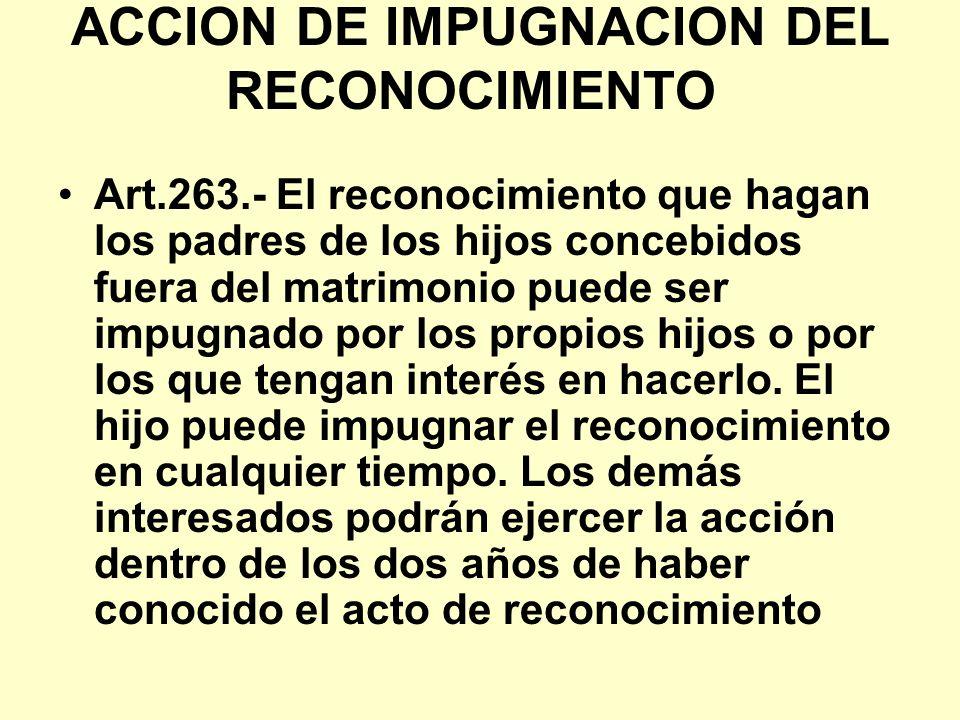 ACCION DE IMPUGNACION DEL RECONOCIMIENTO