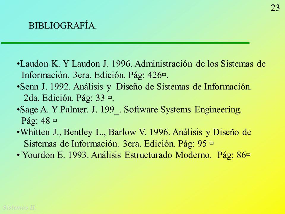 Laudon K. Y Laudon J. 1996. Administración de los Sistemas de