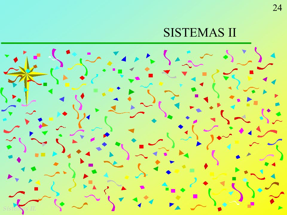 SISTEMAS II Sistemas II.