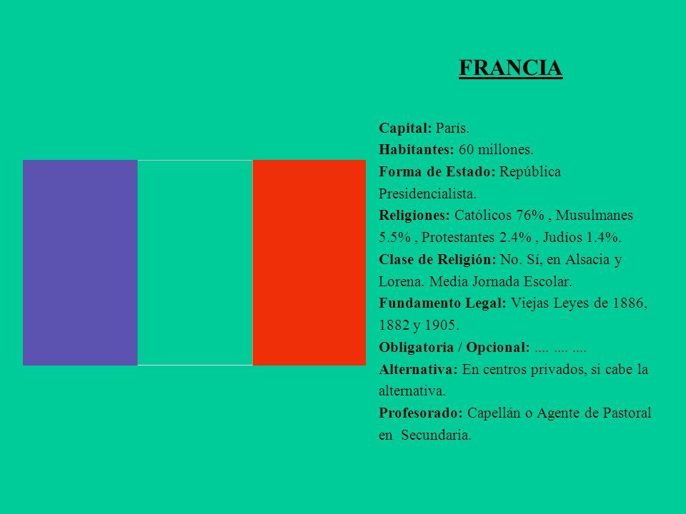 FRANCIA Capital: París. Habitantes: 60 millones.