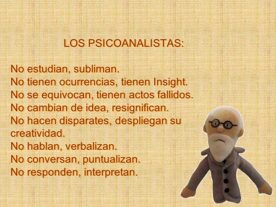 LOS PSICOANALISTAS: