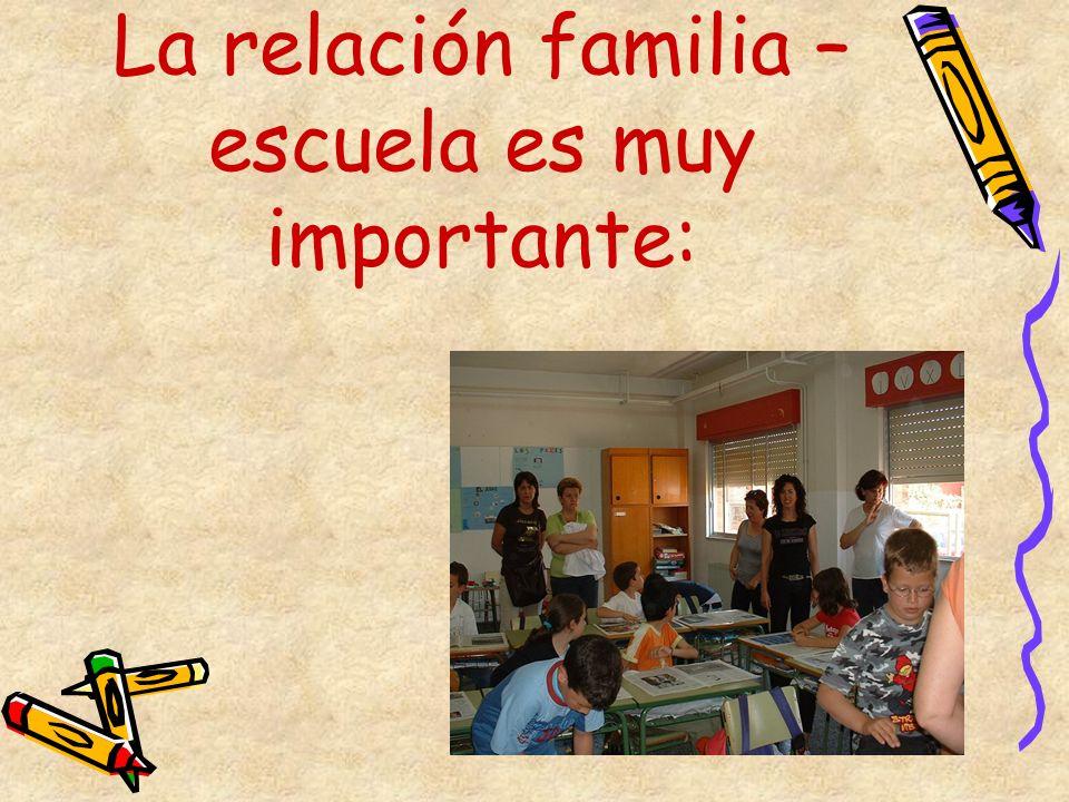 La relación familia – escuela es muy importante: