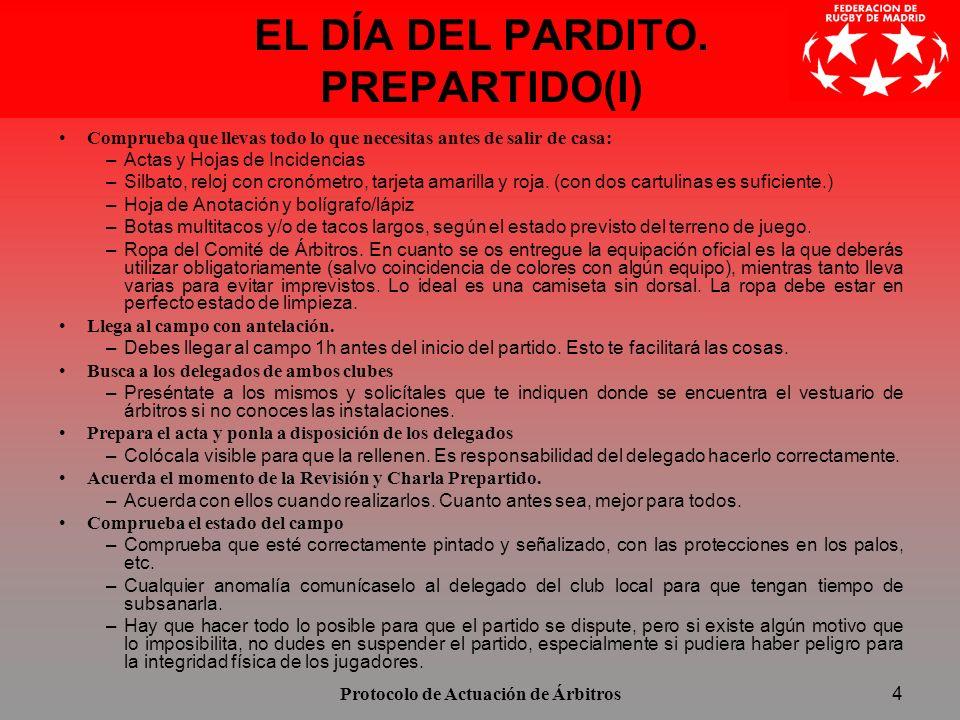 EL DÍA DEL PARDITO. PREPARTIDO(I)
