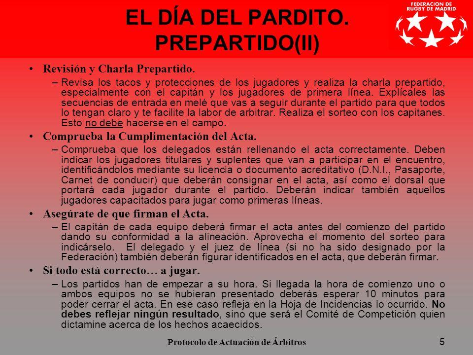 EL DÍA DEL PARDITO. PREPARTIDO(II)