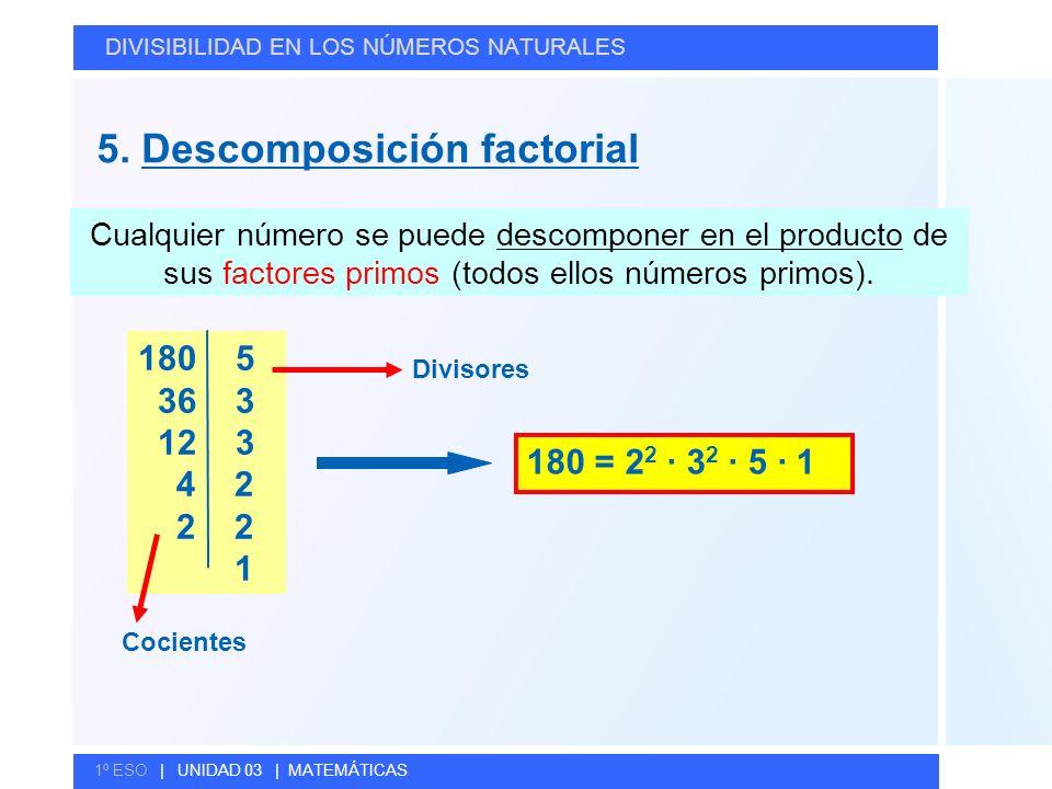 5. Descomposición factorial