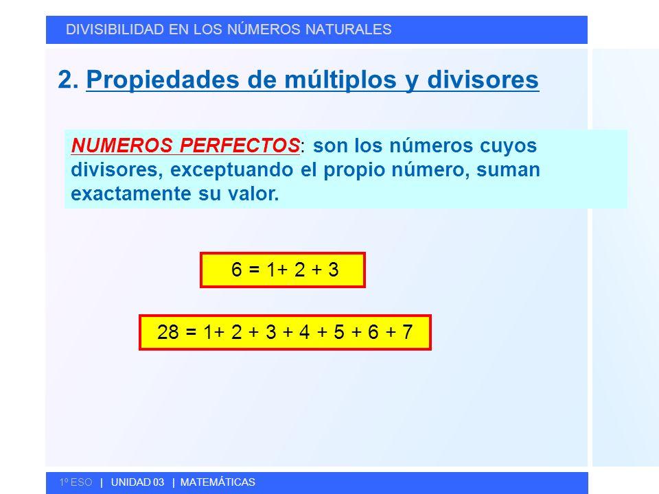 2. Propiedades de múltiplos y divisores
