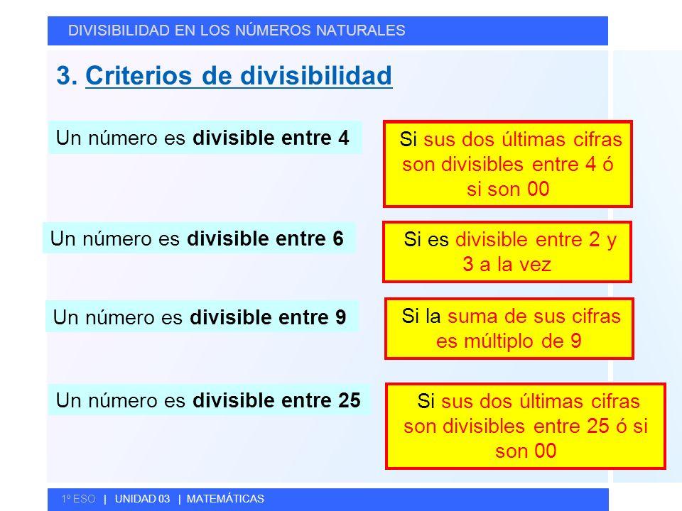 3. Criterios de divisibilidad