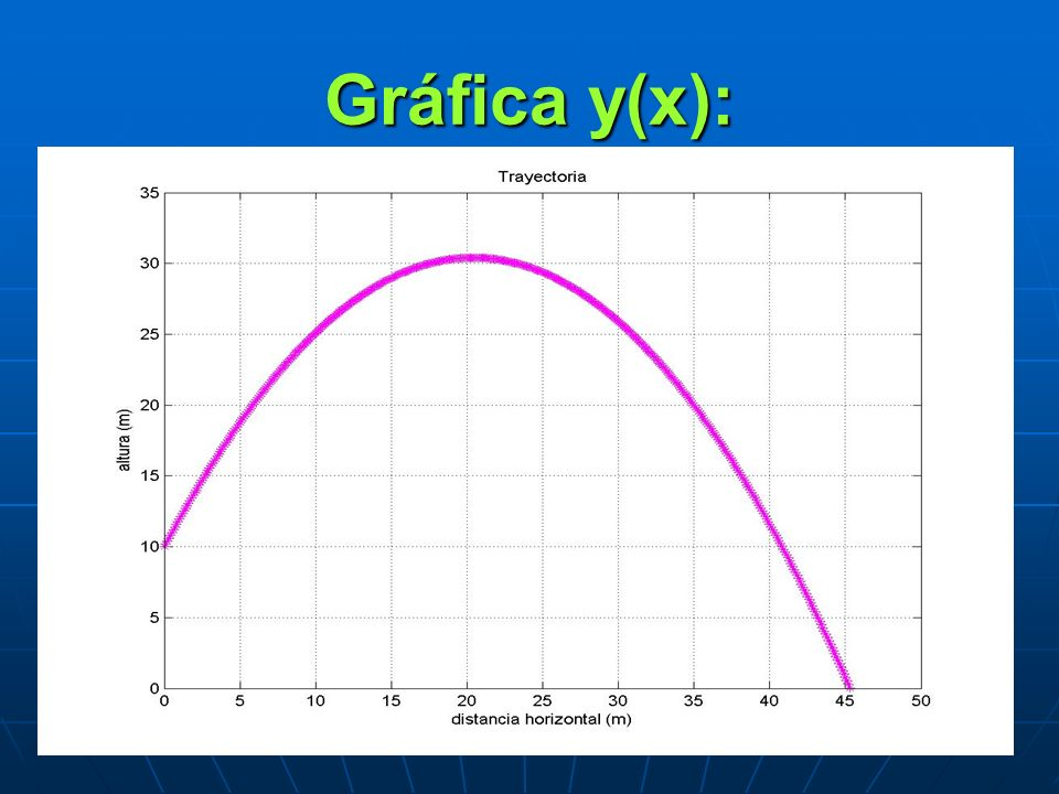 Gráfica y(x):