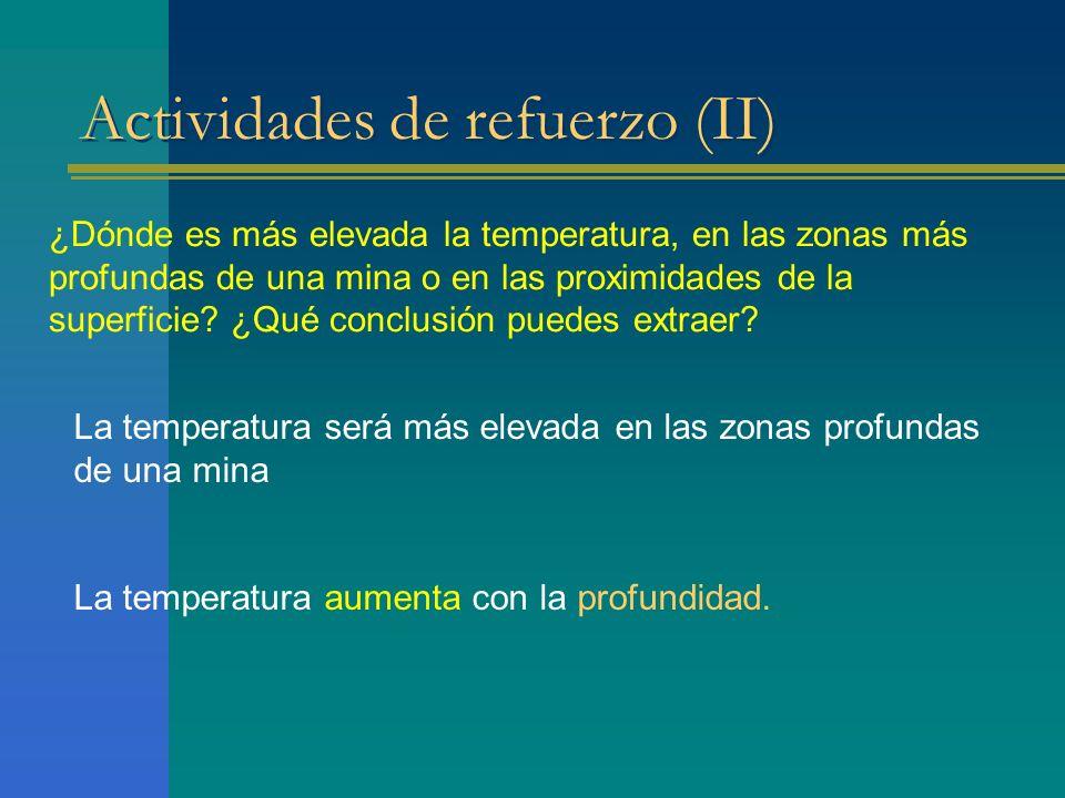 Actividades de refuerzo (II)