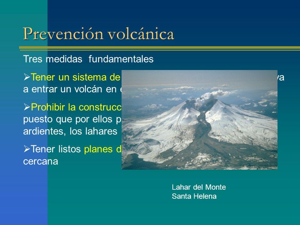 Prevención volcánica Tres medidas fundamentales