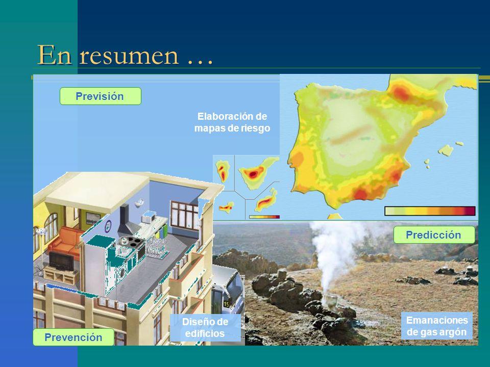Elaboración de mapas de riesgo Emanaciones de gas argón