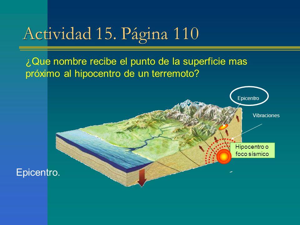 Hipocentro o foco sísmico