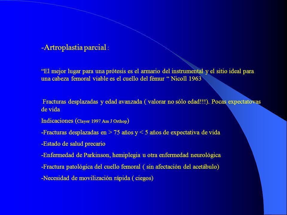 Artroplastia parcial :