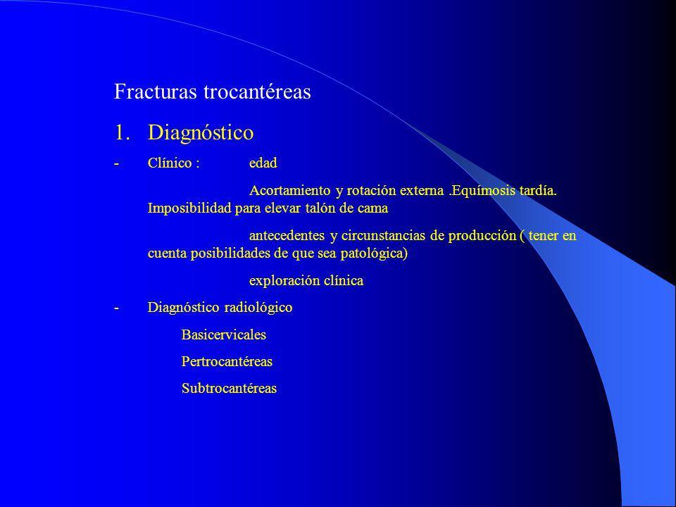 Fracturas trocantéreas Diagnóstico
