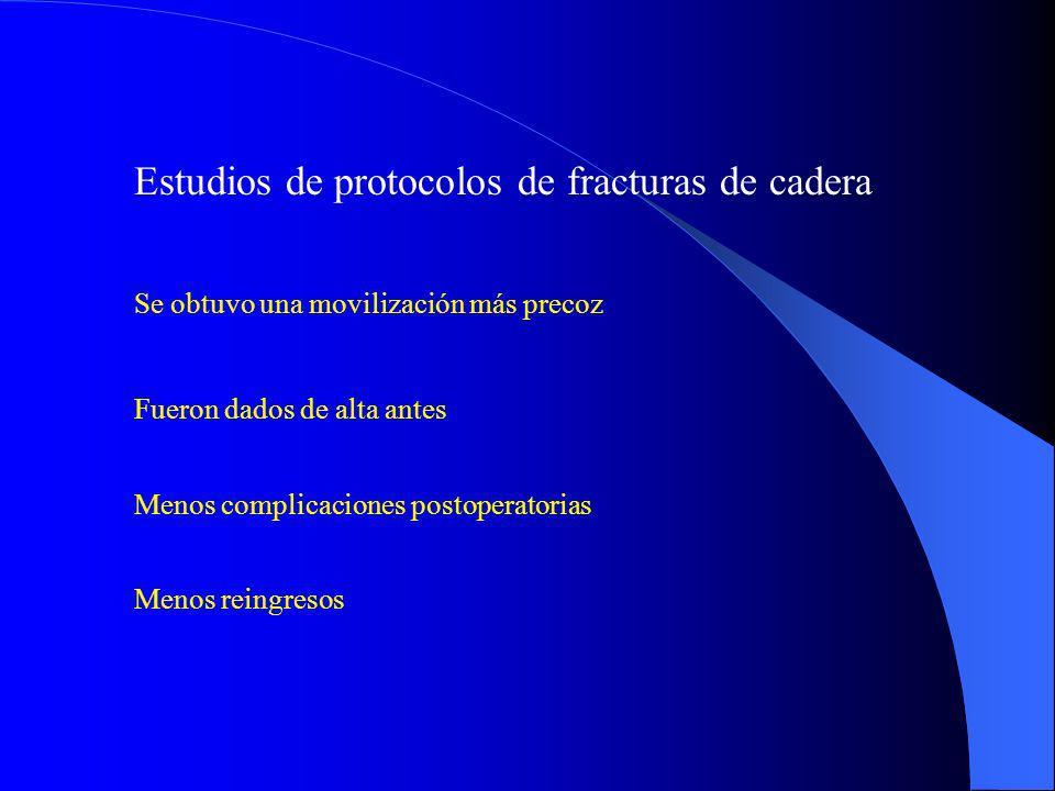 Estudios de protocolos de fracturas de cadera