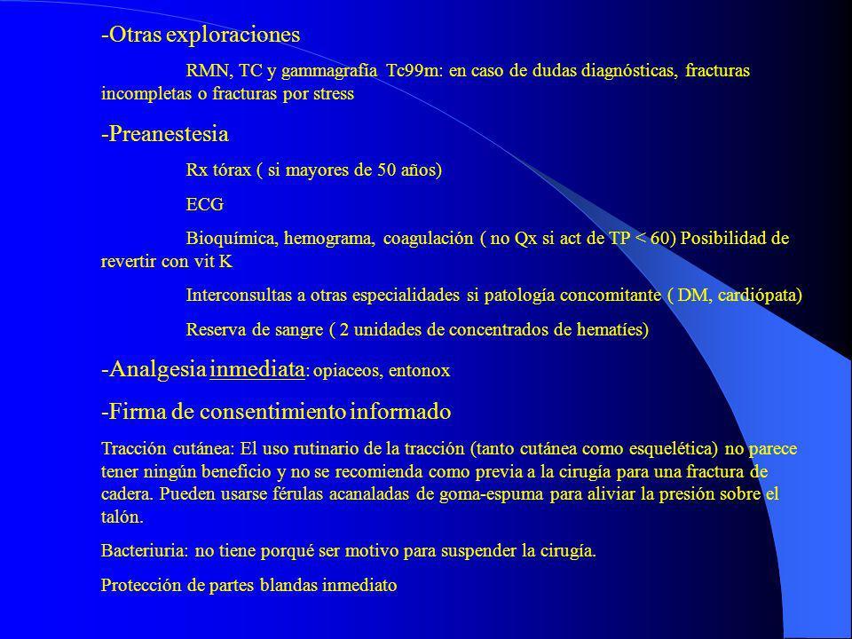 Analgesia inmediata: opiaceos, entonox
