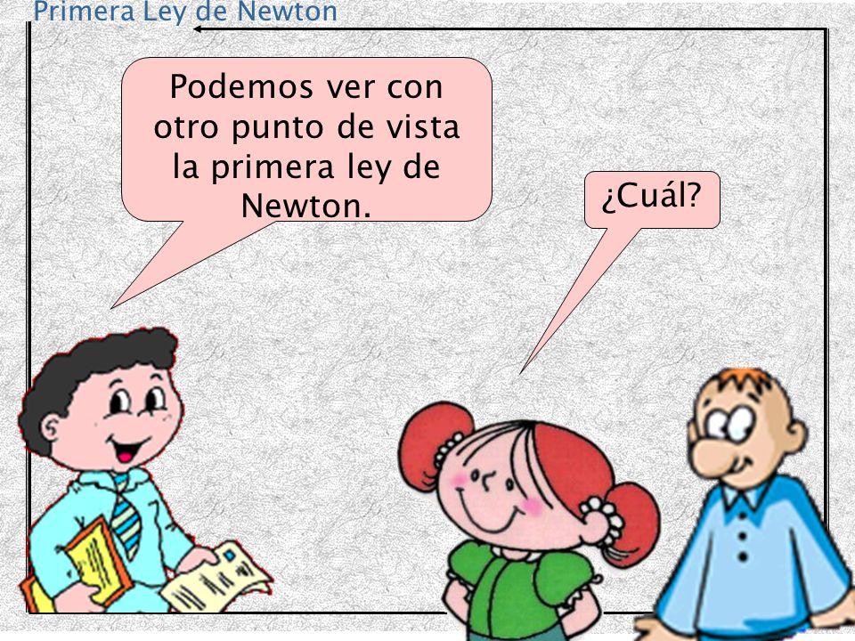 Podemos ver con otro punto de vista la primera ley de Newton.