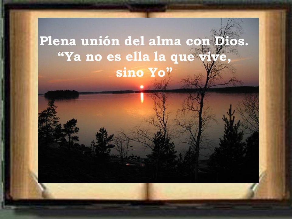 Plena unión del alma con Dios. Ya no es ella la que vive,