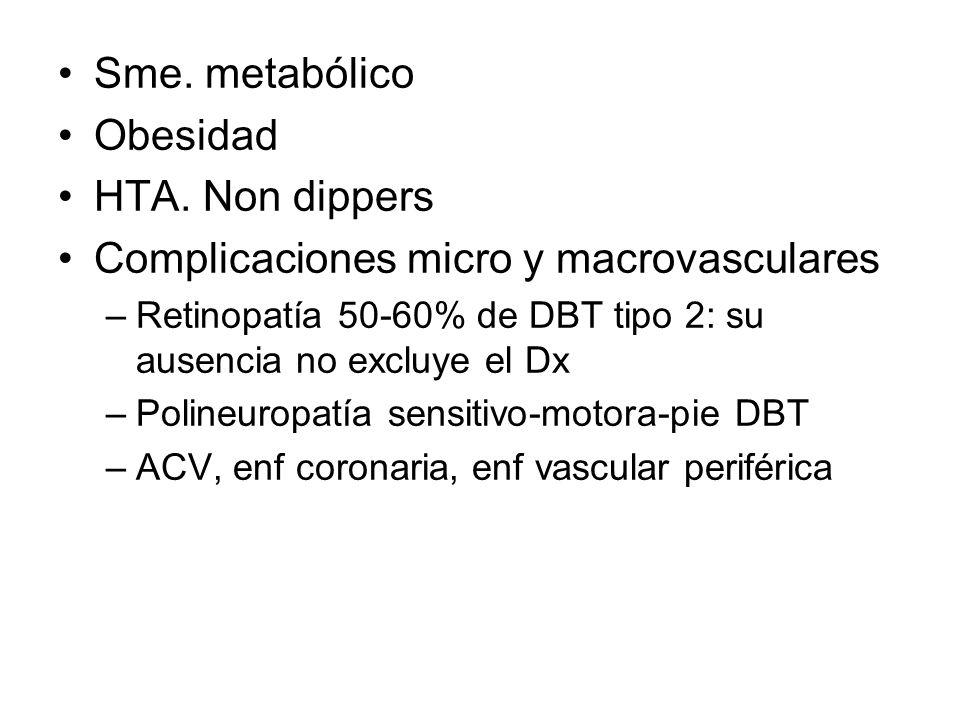 Complicaciones micro y macrovasculares