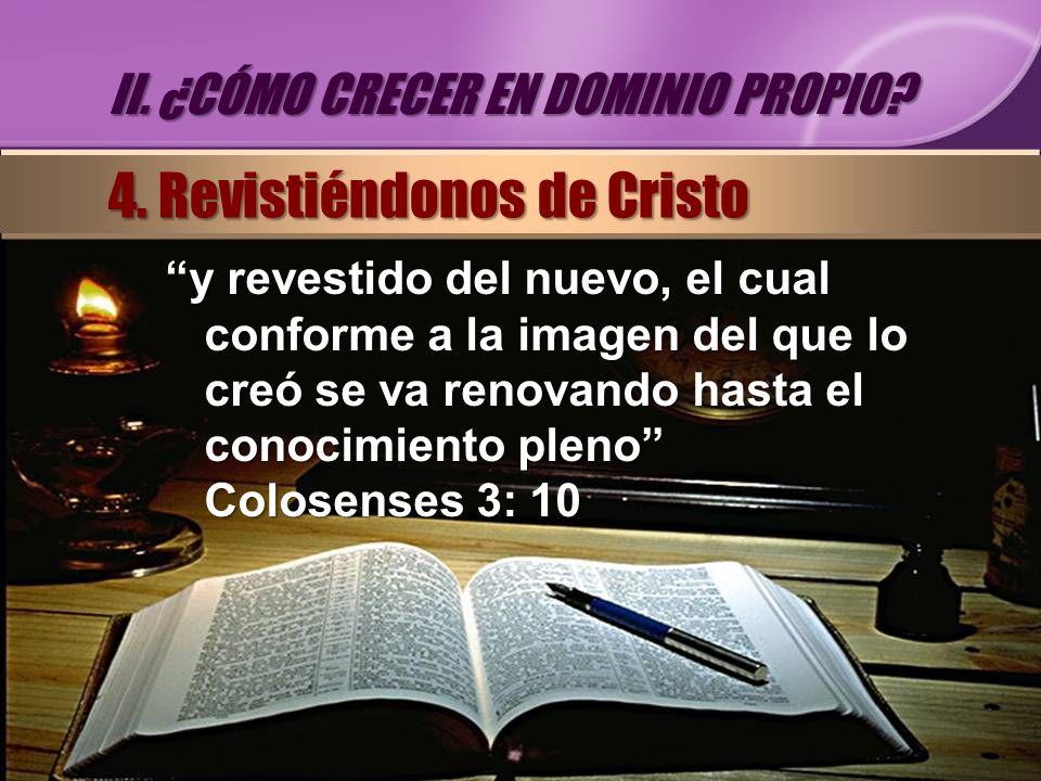 4. Revistiéndonos de Cristo