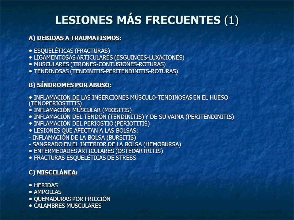 LESIONES MÁS FRECUENTES (1)