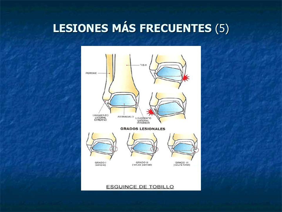 LESIONES MÁS FRECUENTES (5)