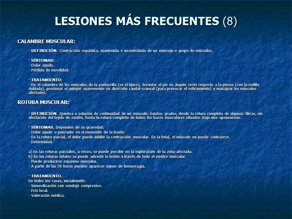 LESIONES MÁS FRECUENTES (8)