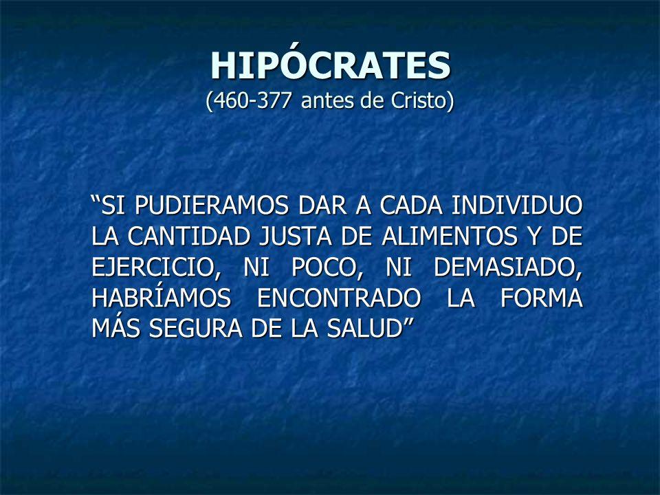 HIPÓCRATES (460-377 antes de Cristo)