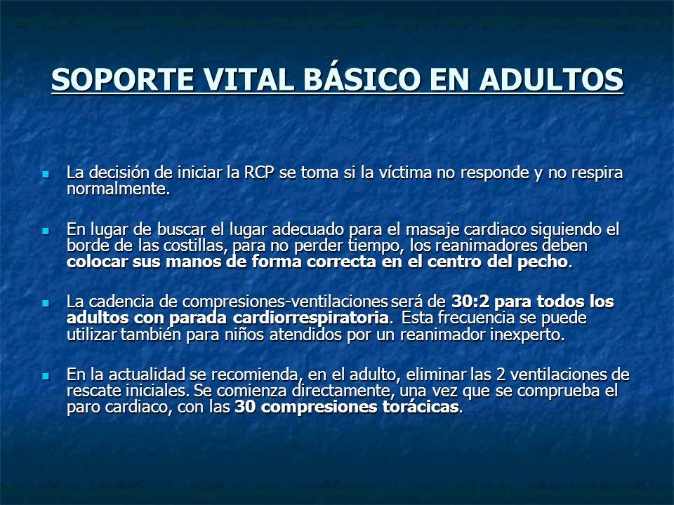 SOPORTE VITAL BÁSICO EN ADULTOS