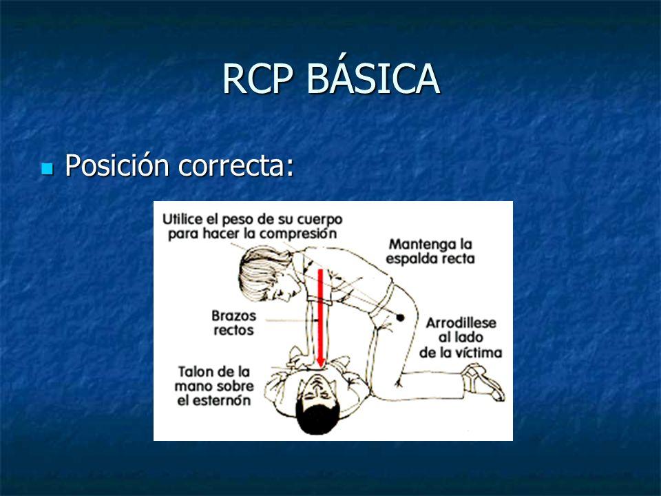 RCP BÁSICA Posición correcta: